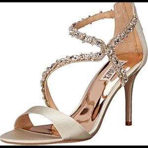 Badgley Mischka embellished heels